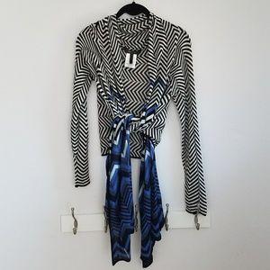 BCBG Open-front/Wrap Sweater